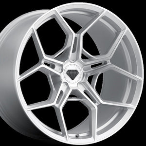 20x10 Blaque Diamond BD-F25 Brushed Silver Wheel (Forged)