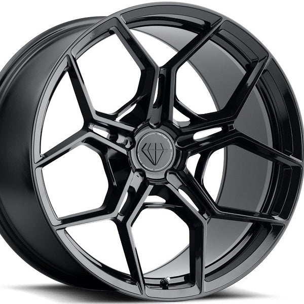 20 inch Blaque Diamond BD-F25 20x10 20x12 Forged Gloss Black Concave Staggered Wheels Rims . By Kixx Motorsports www.kixxmotorsports.com . N