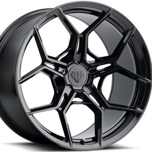22 inch Blaque Diamond BD-F25 22x9 22x10.5 Forged Gloss Black Concave Staggered Wheels Rims. By Kixx Motorsports www.kixxmotorsports.com .