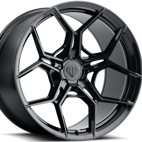 20 inch Blaque Diamond BD-F25 20x9 20x11 Forged Gloss Black Concave Staggered Wheels Rims . By Kixx Motorsports www.kixxmotorsports.com .