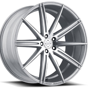 22x9 Blaque Diamond BD-9 Machine Silver Concave Wheels rims by Kixx Motorsports https://www.kixxmotorsports.com 9