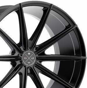 "20"" Blaque Diamond BD11 Black Concave Wheels Rims by Authorized Dealer KIXX Motorsports https://www.kixxmotorsports.com/products/20-full-staggered-set-blaque-diamond-bd-11-20x9-20x10-gloss-black-wheels"