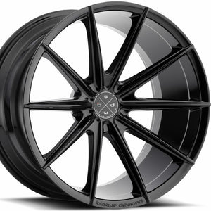 "22"" Blaque Diamond BD11 Black Concave Wheels Rims by KIXX Motorsports https://www.kixxmotorsports.com/products/22x9-blaque-diamond-bd-11-gloss-black-wheel"