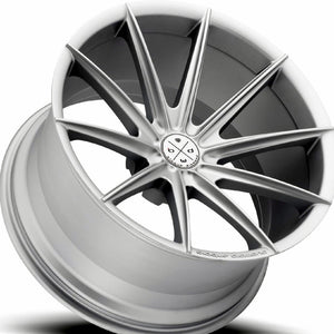 "20"" Blaque Diamond BD-11 Silver Concave Wheels Rims by Authorized Dealer KIXX Motorsports"
