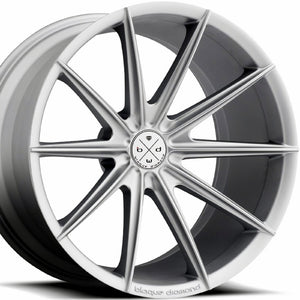 "20"" Blaque Diamond BD-11 Silver Concave Wheels ""Staggered Rims"" by KIXX Motorsports"