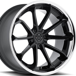 "20"" Blaque Diamond BD23 Black w/Chrome lip concave wheels rims by Authorized Dealer KIXX Motorsports https://www.kixxmotorsports.com/products/20x9-blaque-diamond-bd-23-20x9-gloss-black-w-chrome-lip-wheel"