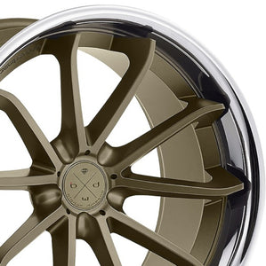 "20"" Blaque Diamond BD23 Bronze Concave Wheels rims by Authorized Dealer KIXX Motorsports https://www.kixxmotorsports.com/products/20-full-staggered-set-blaque-diamond-bd-23-20x9-20x11-matte-bronze-w-chrome-lip-wheels"