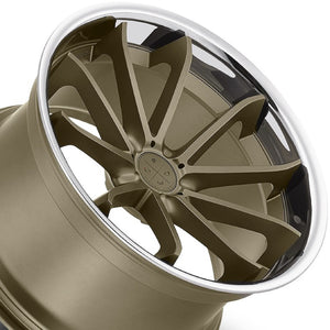 "20"" Blaque Diamond BD23 Bornze Concave wheels rims by KIXX Motorsports https://www.kixxmotorsports.com/products/20x10-blaque-diamond-bd-23-matte-bronze-w-chrome-lip-wheel"