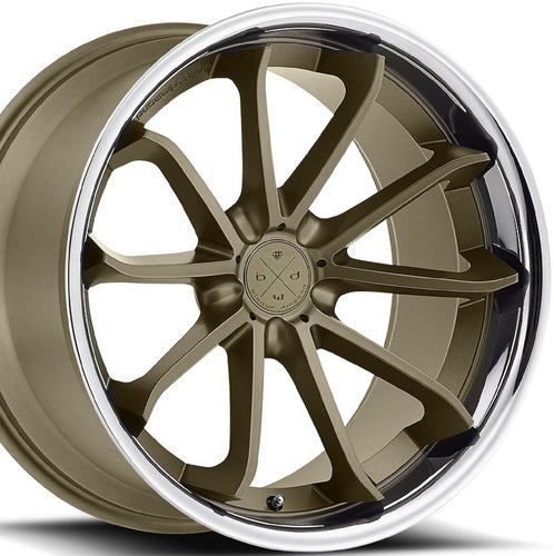 22x9 Blaque Diamond BD23 Concave Bronze wheels rims by Authorized Dealer KIXX Motorsports https://www.kixxmotorsports.com/products/22x9-blaque-diamond-bd-23-matte-bronze-w-chrome-lip-wheel