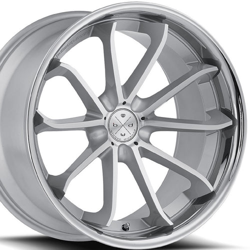 22x9 Blaque Diamond BD23 Silver Concave wheels rims by Authorized Dealer KIXX Motorsports https://www.kixxmotorsports.com/products/22x9-blaque-diamond-bd-23-silver-w-chrome-lip-wheel