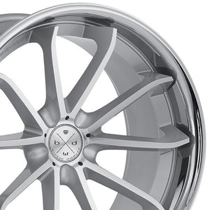 22x10.5 Blaque Diamond BD23 Silver Concave wheels rims by Authorized Dealer KIXX Motorsports https://www.kixxmotorsports.com/products/22x10-5-blaque-diamond-bd-23-silver-w-chrome-lip-wheel