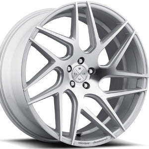 "22"" Blaque Diamond BD3 Silver Concave Wheels by Authroized Dealer KIXX Motorsports https://www.kixxmotorsports.com/products/22x9-blaque-diamond-bd-3-machine-silver-wheel"