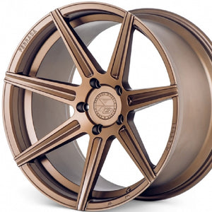 20x9 20x11 Ferrada F8-FR7 Matte Bronze concave staggered wheels rims for Audi R8, Lamborghini Gallardo, Ford Mustang GT, Chevrolet Camaro, BMW M3, M4, M5, Nissan 350Z 370Z. By Kixx Motorsports https://www.kixxmotorsports.com/products/20-full-staggered-set-ferrada-f8-fr7-20x9-20x11-matte-bronze-wheels