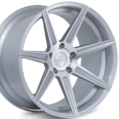 20x10.5 20x11.5 Ferrada F8 FR7 Silver concave staggered wheels rims for Nissan GTR, 350Z, 370Z, BMW X5, X6. By Kixx Motorsports