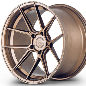 "20"" Ferrada F8-FR8 Bronze concave wheels rims by Authorized Dealer KIXX Motorsports https://www.kixxmotorsports.com/products/20-full-staggered-set-ferrada-f8-fr8-20x10-5-20x11-5-matte-bronze-forged-wheels"
