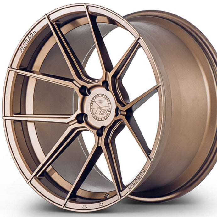 20x10.5 Ferrada Forge-8 FR8 Bronze concave wheels rims by Authorized Ferrada Wheel Dealer KIXX Motorsports https://www.kixxmotorsports.com/products/20x10-5-ferrada-f8-fr8-matte-bronze-forged-wheel