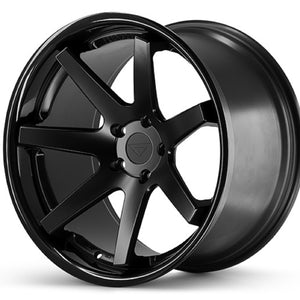 "22"" Ferrada FR1 Black Concave wheels rims https://www.kixxmotorsports.com/products/22-full-staggered-set-ferrada-fr1-22x9-22x10-5-matte-black-w-gloss-black-lip-wheels"
