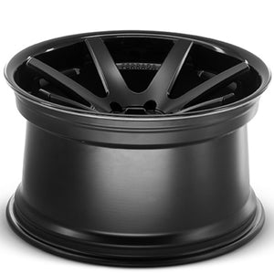 "22"" Black Concave wheels rims https://www.kixxmotorsports.com/products/22-full-staggered-set-ferrada-fr1-22x9-22x11-matte-black-w-gloss-black-lip-wheels"