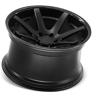 "22"" Ferrada FR1 Black Concave wheels rims by Kixx Motorsports https://www.kixxmotorsports.com/products/22-full-staggered-set-ferrada-fr1-22x9-22x10-5-matte-black-w-gloss-black-lip-wheels"