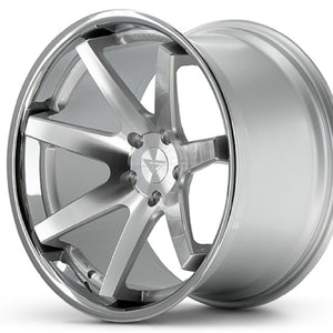 "22"" Ferrada FR1 Silver concave wheels by KIXX Motorsports https://www.kixxmotorsports.com/products/22-full-staggered-set-ferrada-fr1-22x9-22x10-5-machine-silver-w-chrome-lip-wheels"