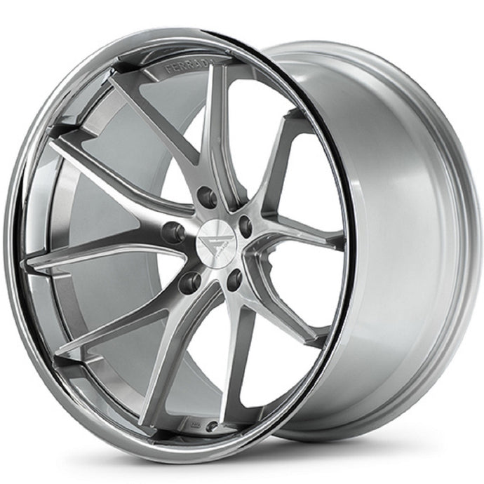 22x9.5 Ferrada FR2 Silver concave wheels rims by Authorized Ferrada Dealer https://www.kixxmotorsports.com/products/22x9-5-ferrada-fr2-machine-silver-w-chrome-lip-wheel