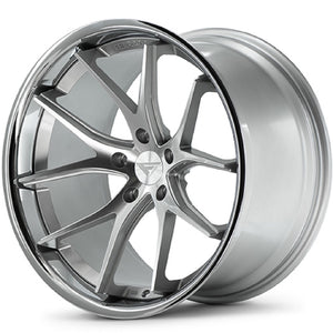 "20"" Ferrada FR2 Silver concave wheels by Authorized Dealer KIXX Motorsports https://www.kixxmotorsports.com/products/20-full-staggered-set-ferrada-fr2-20x9-20x10-5-machine-silver-w-chrome-lip-wheels"