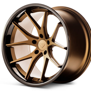 "20"" Ferrada FR2 Bronze concave wheels rims by KIXX Motorsports https://www.kixxmotorsports.com/products/20-full-staggered-set-ferrada-fr2-20x10-5-20x11-5-matte-bronze-w-gloss-black-lip-wheels"