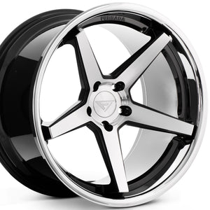"22"" Ferrada FR3 Machine Black concave wheels rims by KIXX Motorsports https://www.kixxmotorsports.com/products/22-full-staggered-set-ferrada-fr3-22x9-22x11-machine-black-w-chrome-lip-wheels"