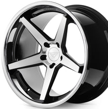 "22"" Ferrada FR3 Black/Silver concave wheels rims by Authorized Ferrada Wheel Dealer Kixx Motorsports https://www.kixxmotorsports.com/products/22x10-5-ferrada-fr3-machine-black-w-chrome-lip-wheel"