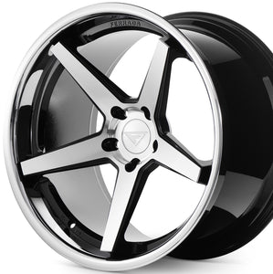 "22"" Ferrada FR3 Black/Silver/Chrome Lip concave wheels rims by KIXX Motorsports https://www.kixxmotorsports.com/products/22-full-staggered-set-ferrada-fr3-22x9-22x11-machine-black-w-chrome-lip-wheels"