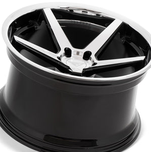 22x10.5 Ferrada FR3 Machine Black concave wheels by Authorized Ferrada Wheel Dealer Kixx Motorsports https://www.kixxmotorsports.com/products/22x10-5-ferrada-fr3-machine-black-w-chrome-lip-wheel