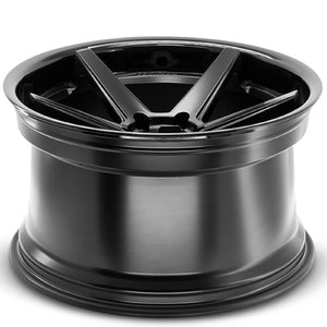 Ferrada RF3 Black concave wheels by Auhorized Dealer KIXX Motorsports https://www.kixxmotorsports.com/products/19-full-staggered-set-ferrada-fr3-19x8-5-19x10-5-matte-black-w-gloss-black-lip-wheels