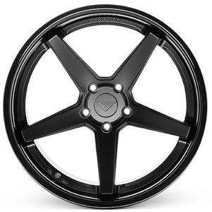 19x9.5 Ferrada FR3 Matte Black w/Gloss Black Lip Wheel