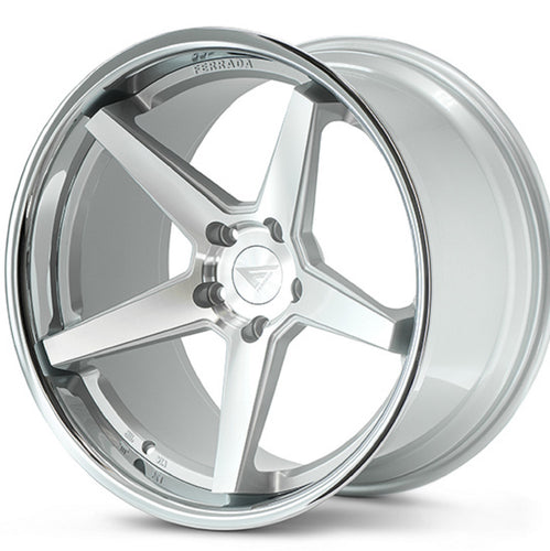 22x9.5 Ferrada FR3 Silver concave wheels rims by Authorized Ferrada Wheel Dealer Kixx Motorsports https://www.kixxmotorsports.com/products/22x9-5-ferrada-fr3-machine-silver-w-chrome-lip-wheel