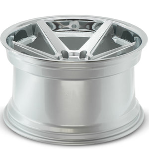 "19"" Ferrada FR3 Silver concave wheels rims by Kixx Motorsports https://www.kixxmotorsports.com/products/19x8-5-ferrada-fr3-machine-silver-w-chrome-lip-wheel"