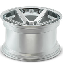 "20"" Ferrada FR3 silver deep concave wheels rims by KIXX Motorsports https://www.kixxmotorsports.com/products/20-full-staggered-set-ferrada-fr3-20x10-5-20x11-5-machine-silver-w-chrome-lip-wheels"