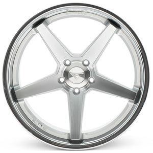 "19"" Ferrada FR3 Silver concave wheels rims by KIXX Motorsports https://www.kixxmotorsports.com/products/19-full-staggered-set-ferrada-fr3-19x9-5-19x10-5-machine-silver-w-chrome-lip-wheels"