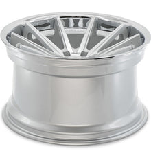"20"" Ferrada FR4 Concave silver wheels rims by Authorized Dealer KIXX Motorsports https://www.kixxmotorsports.com/products/20-full-staggered-set-ferrada-fr4-20x9-20x11-5-machine-silver-w-chrome-lip-wheels"