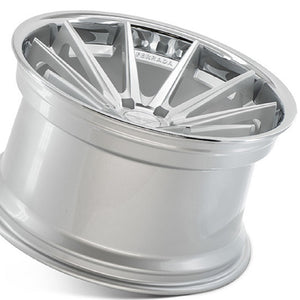 "19"" Ferrada FR4 Silver concave wheels rims by Authorized Dealer KIXX Motorsports https://www.kixxmotorsports.com/products/19-full-staggered-set-ferrada-fr4-19x8-5-19x9-5-machine-silver-w-chrome-lip-wheels"