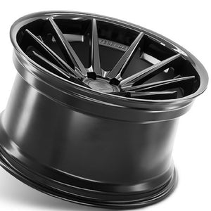 "20"" Ferrada FR4 Black concave wheels rims by KIXX Motorsports https://www.kixxmotorsports.com/products/20-full-staggered-set-ferrada-fr4-20x9-20x10-5-matte-black-w-gloss-black-lip-wheels"