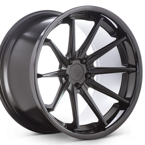 22x10.5 Ferrada FR4 Black wheels rims by Authorized Ferrada Wheel Dealer KIXX Motorsports https://www.kixxmotorsports.com/products/22x10-5-ferrada-fr4-matte-black-w-gloss-black-lip-wheel