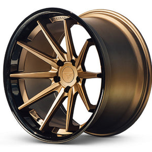 22x10.5 Ferrada FR4 Bronze concave wheels rims by Authorized Ferrada Wheel Dealer Kixx Motorsports https://www.kixxmotorsports.com/products/22x10-5-ferrada-fr4-matte-bronze-w-gloss-black-lip-wheel