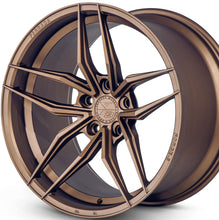 "20"" Ferrada F8-FR5 Bronze concave wheels rims by KIXX Motorsports https://www.kixxmotorsports.com/products/20-full-staggered-set-ferrada-f8-fr5-20x9-20x10-matte-bronze-wheels"