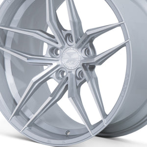 "20"" Ferrada F8-FR5 Silver concave wheels rims by Kixx Motorsports https://www.kixxmotorsports.com/products/20-full-staggered-set-ferrada-f8-fr5-20x10-20x12-machine-silver-wheels"