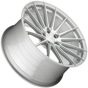 Silver concave wheels by https;//www.kixxmotorsports.com