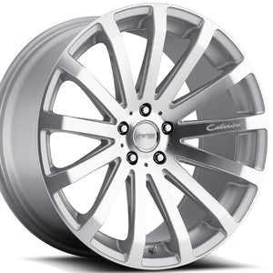 "19"" MRR HR9 Silver Concave Staggered Wheels 19x8.5 19x9.5 for by Kixx Motorsports https://www.kixxmotorsports.com"