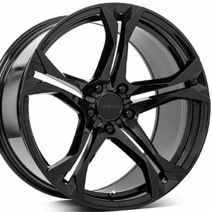 "20"" MRR M017 Gloss Black Concave Staggered Wheels Rims 20x10 20x11 for Chevy Camaro by Kixx Motorsports https://www.kixxmotorsports.com 8"