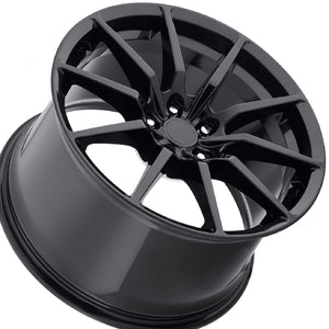 "19"" (Full Staggered Set) MRR M350 19x10 19x11 Black Wheels (Forged)"