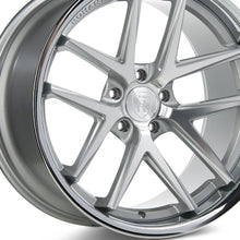 "20"" (Full Staggered) Rohana RC9 20x9 20x10 Silver Machined w/Chrome Lip Concave Wheels"
