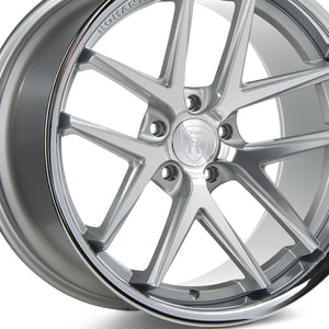 "20"" (Full Staggered) Rohana RC9 20x9 20x11 Silver Machined w/Chrome Lip Concave Wheels"